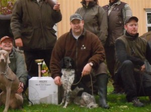 Klaas Zonnebeld with his Stabyhoun. Congratulations!