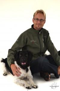 Jesper Lund with his Stabyhoun, Soya